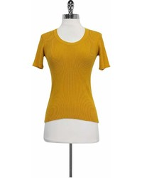 Miu Miu Mustard Yellow Cotton Sweater