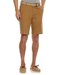 Roundtree & Yorke Big Tall Casuals 11 Flat Front Washed Shorts