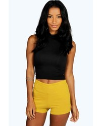 Boohoo Sasha Ponte High Waisted Knicker Shorts