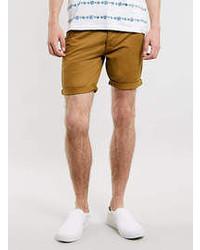 Topman Mustard Chino Shorts