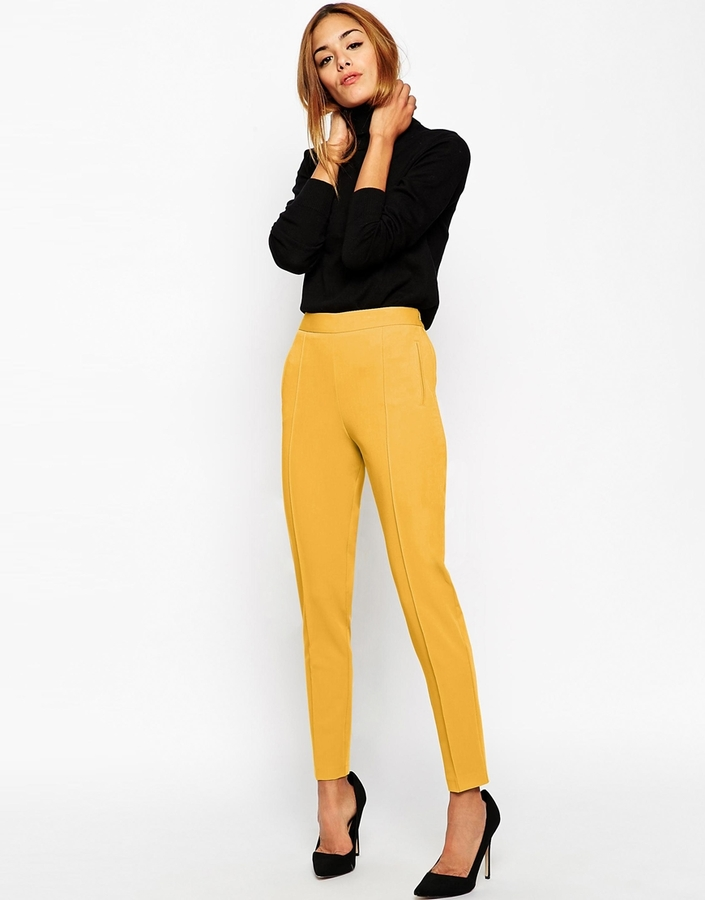 Perfect Home Womens Jeans Terri Jeans In Mustard Yellow