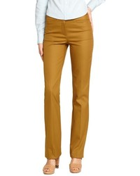 Loro Piana Mustard Cotton Anny Fp Straight Leg Pants