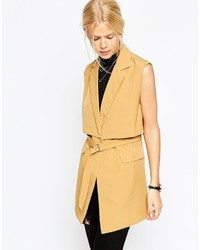 Asos Collection Sleeveless Trench Jacket
