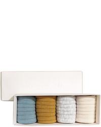 H&M 4 Pairs Socks In A Box Mustard Yellow Kids