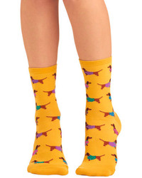 Socksmith Gold Medal Wiener Dog Socks