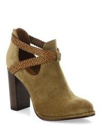 Margaret braid suede leather booties medium 3702317