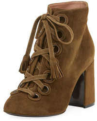 Laurence Dacade Paddle Suede Lace Up 90mm Bootie