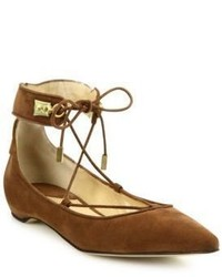 Paul Andrew Murad Suede Lace Up Flats