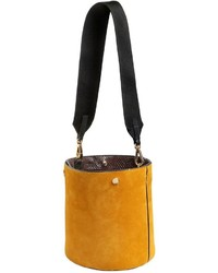 Marni Small Suede Bucket Bag W Elaphe Detail