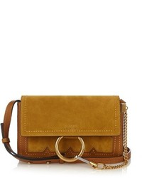 Chloé Chlo Faye Small Suede And Leather Cross Body Bag