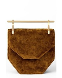 M2MALLETIE R Mini Amor Fati Velvet Shoulder Bag