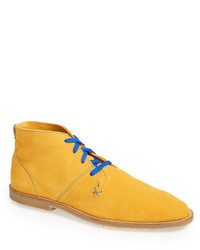 Mustard Suede Desert Boots