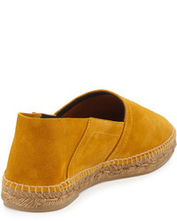 Tom Ford Barnes Suede Espadrille Yellow
