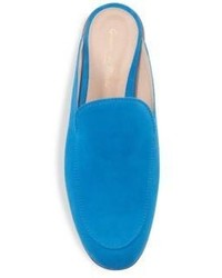 Gianvito Rossi Suede Loafer Slides