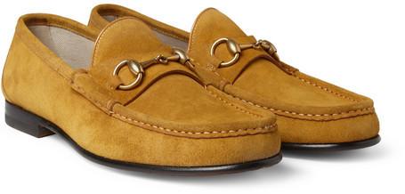b44e27b6d70 ... Gucci Horsebit Suede Loafers ...