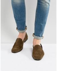 Loafers in khaki suede medium 3764067
