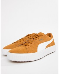 Puma Breaker Suede Trainers In Yellow 36662501