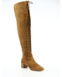 Michael Kors Michl Kors Collection Harris Lace Up Suede Over The Knee Boots