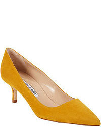 Mustard Suede Pumps
