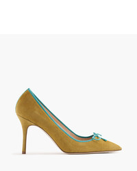 J.Crew Elsie Suede Pumps With Contrast Trim