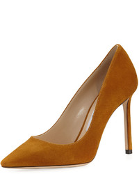 Romy suede 100mm pump yellow medium 3704949