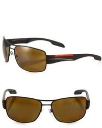 Prada Rectangular Sport Sunglasses