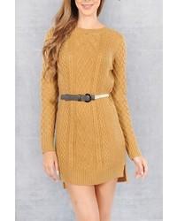 Double Zero Mustard Sweater Dress