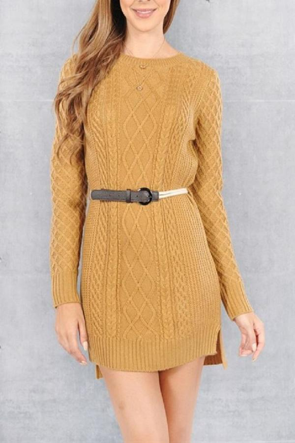 Double Zero Mustard Sweater Dress | Where to buy & how to wear