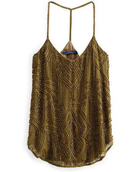 Polo Ralph Lauren Hand Beaded Georgette Tank