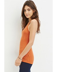 Forever 21 Ribbed Racerback Tank Top