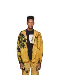 Palm Angels Yellow Tie Dye Windbreaker Jacket
