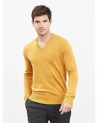 Extra Fine Merino Wool Vee Sweater Pullover