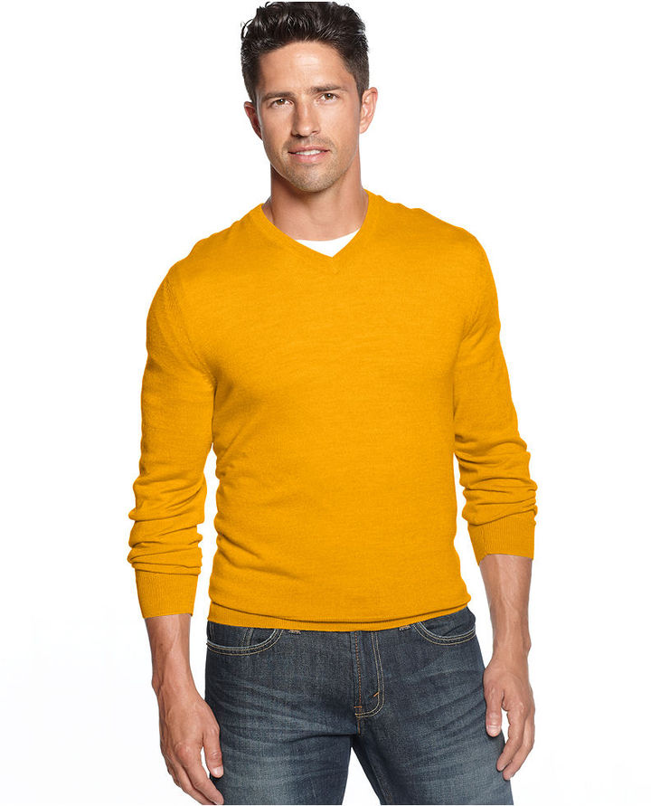 Club Room Merino Blend V Neck Sweater | Where to buy & how to wear