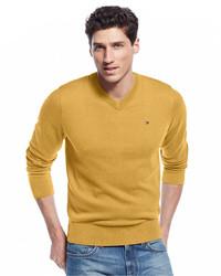 Tommy Hilfiger Signature Solid V Neck Sweater