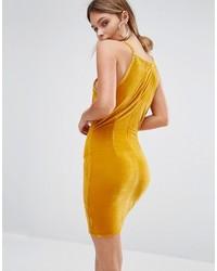 Missguided Velvet Mini Bodycon Dress