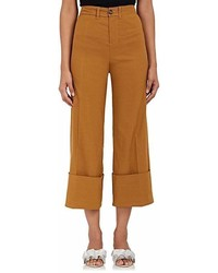 Sea Cotton Blend Crop Cuffed Pants