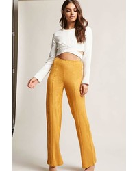 Forever 21 Faux Suede Wide Leg Pants