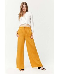 Forever 21 Satiny Wide Leg Trousers