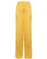 Etro Wide Leg Crepe De Chine Trousers
