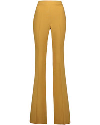 Giambattista Valli Wool Crepe Flared Pants