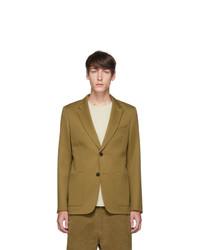AMI Alexandre Mattiussi Tan Patch Pocket Blazer