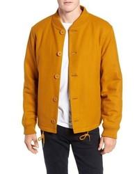 Mustard Wool Bomber Jacket
