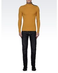 Emporio Armani Wool Sweater With Zipper Detail