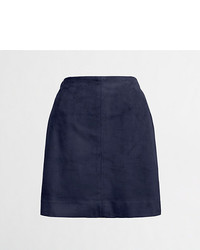 J.Crew Factory Faux Suede Seamed Skirt