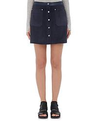 Rag & Bone Suede Siri A Line Miniskirt