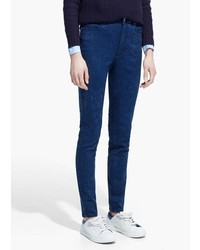 Navy Acid Skinny Jeans