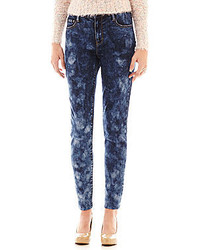 Decree acid wash high rise jeggings medium 173663