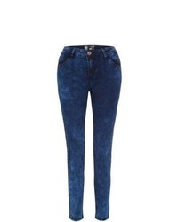 New Look 30in Blue Acid Wash Skinny Jeans