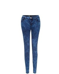 New Look 32in Blue Acid Wash Skinny Jeans