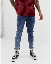 ASOS DESIGN Slim Jeans In Blue Acid Wash